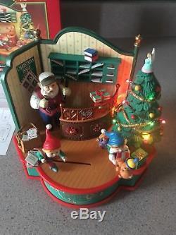 Enesco Santa's North Pole Post Office Multi-action/lights Music Box Mib