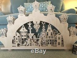 Enormous Saico Erzgebirge Made In Germany Candleholder Tea Light Arch New 44x28