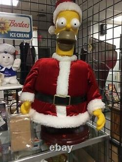 Extremely Rare 2002 Lifesize Animated Homer Simpson Christmas Prop Santa Gemmy