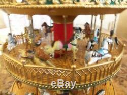 Extremely Rare Mr Christmas (nottingham Fair) Double Decker Light Up Carousel
