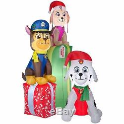 Gemmy 9' Paw Patrol Chase Marshall & Skye Lighted Christmas Airblown Inflatable