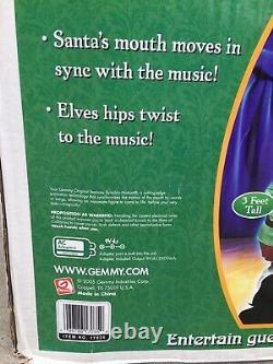 Gemmy Animated Life Size Kris And The Kringle Jingles Band Animated RARE HTF