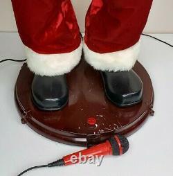 Gemmy Large 5' Animated Singing Dancing Santa Karaoke with Microphone SEE VIDEO