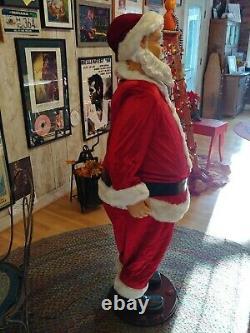 Gemmy Life Size 5' Animated Singing Dancing Santa Karaoke RARE