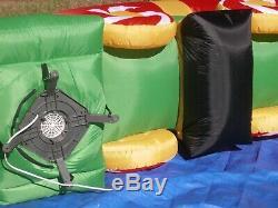 Gemmy Prototype 8' Santa Zamboni Christmas Present Lighted Airblown Inflatable
