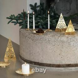 Georg Jensen 18k Gold Plated Stainless Steel Christmas 2020 Table Tree Set 3pc