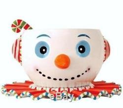 Glitterville snowman punchbowl