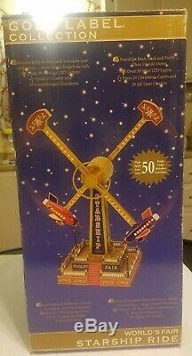 Gold Label Collection Worlds Fair Starship Rocket Ride In Box Mr. Christmas