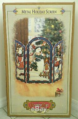 Grandeur Noel Metal Holiday Screen 2002 Collector's Edition Christmas Snowman