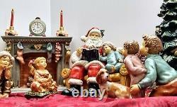 Grandeur Noel Porcelain Santa Scene Collector's Edition 2002 Christmas Decor