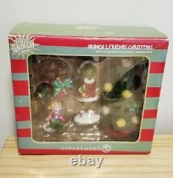 Grinch Friends Christmas RARE READ Whoville Village Dept 56 retired 4 piece set