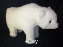 HEN HOUSE Joyce Ditz Designs White Polar Bear Footrest VINTAGE EXCELLENT