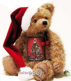 HERMANN-Coburg Germany Mohair Teddy Bear Annual Christmas Weihnacht for 2016 NEW