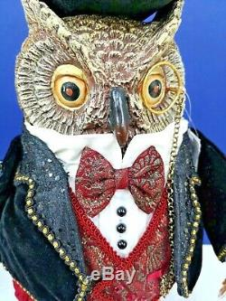 HOLIDAY CHEER OWL Table Top CHRISTMAS 28-828222 NEW MINT Katherine's Collection