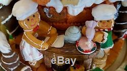HP MUSICAL Christmas GINGERBREAD Men LG Water Snow Globe Ball REVOLVING Base