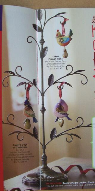 Hallmark 2013 Ornament Tree Stand Display 12 Days Of Christmas Nib