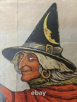 Halloween Vintage Beistle Die Cut Witch Guaranteed AUTHENTIC Early 1930's