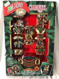 Holiday Carousel Mr Christmas Lighted Musical 6 Horses 21 Caroling Songs -NEW