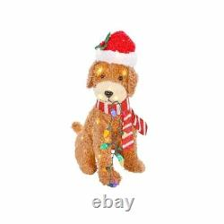 Holiday Living 27 Christmas LED Light Up Fluffy Doodle Dog SOLD OUT! 3723791
