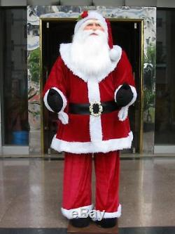 Huge 6 Foot Life-Size Decorative Plush Santa Claus Sitting or Standing