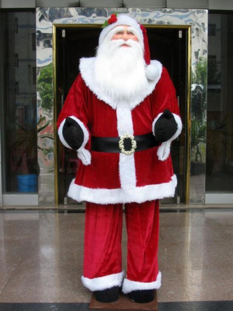 Huge 6 Foot Life-size Decorative Plush Standing Santa Claus