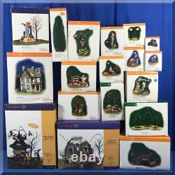 Huge Collection Of Department 56 Haunted Halloween Lot Of 19 Pieces With Boxes