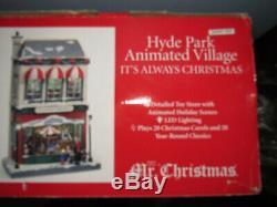 It's Always Christmas Mr. Christmas Hyde Park 2012 Animated Village MIB