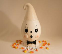 Johanna Parker Ghost Halloween Cookie Jar with Minor Flaws on Both Eyes