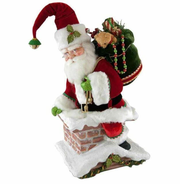 Katherine's 22 Santa Climbing Chimney Christmas Tree Topper Table Top 28-828324
