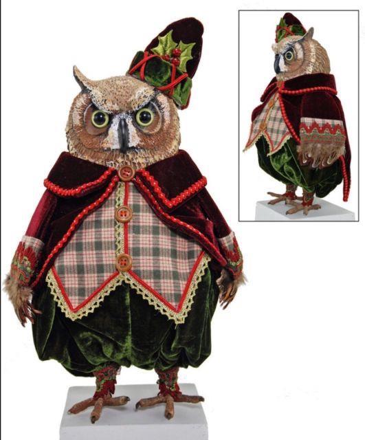 Katherine's Collection 13 Woodby Owl Christmas Display 18-583612 New