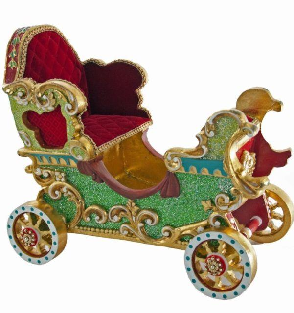 Katherine's Collection 14 Noel Cirque Christmas Carriage Sleigh New 28-628117