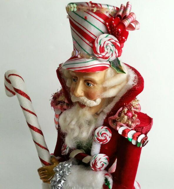 Katherine's Collection 19 Sweet Nutcracker Christmas Figure Red Candy Cane