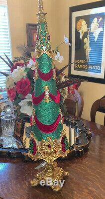 Katherine's Collection 34 Resin, Velvet, Crystals, Christmas Tree Display New