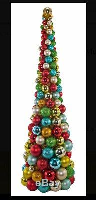 Katherine's Collection 36 Noel Multi Color Christmas Bulb Tree NEW 22-622042