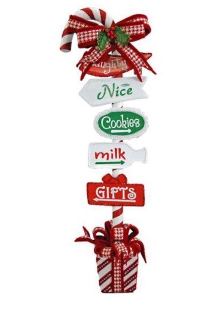 Katherine's Collection Christmas Spectacular 28 Candy Cane Directional Sign New
