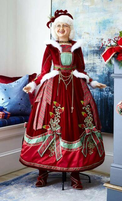 Katherine's Collection Christmas Wishes Mrs. Claus Doll Lifesize 11-911530 New