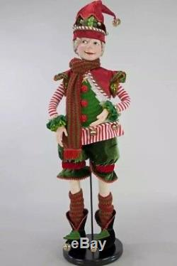 Katherine's Collection Night Before Christmas Red Elf Doll 32
