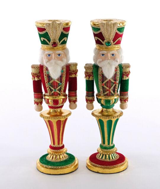 Katherine's Collection Nutcracker Candle Holder 12 Set Of Two 28-928477