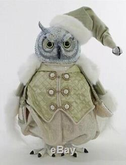 Katherine's Collection Peace On Earth Snow Owl Tabletop New 18-944777