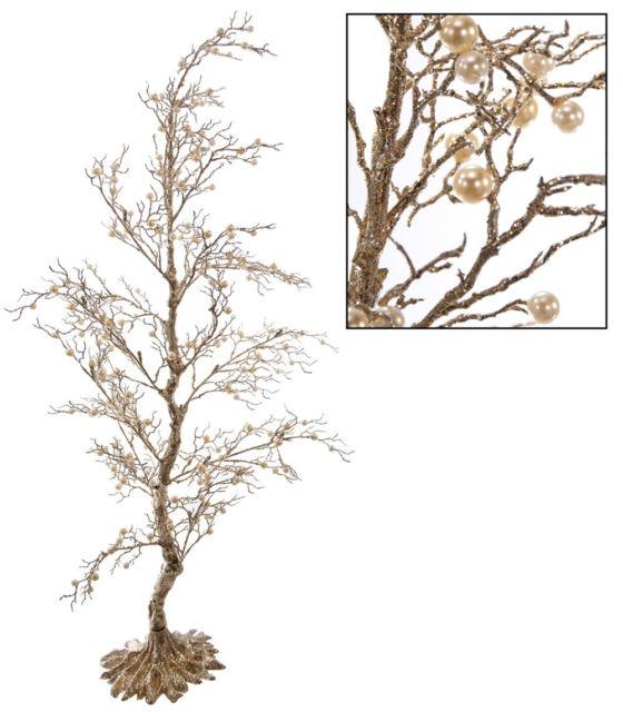 Katherine's Collection Platinum Pearl Tabletop Tree 48 18-639001 Set Of Two