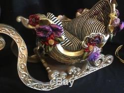 Katherine's Collection RARE 21 Christmas Sleigh & Reindeer Table Top Display