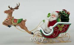 Katherine's Collection SANTA Sleigh & Reindeer Tbltop 28-828335 NEW Christmas