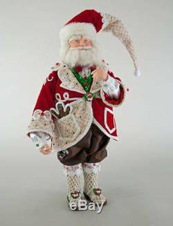 Katherine's Collection Sweet Christmas Santa Doll 24 28-828253