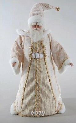 Katherine's Collection Thread Of Gold Cream Santa Doll 18 NEW 11-811510