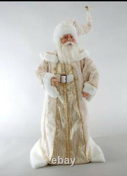 Katherine's Collection Thread Of Gold Cream Santa Doll 26 NEW 11-811509