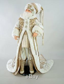 Katherine's Collection Thread Of Gold Santa Doll 32 28-828258