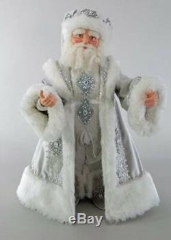 Katherine's Collection Winter Wonderland Santa Doll 24 NEW 28-828267