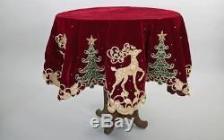 Katherines Collection Holiday Cheer Overlay Christmas Tablecloth 30-830127