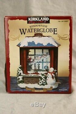 Kirkland Signature XMAS Santa Sleigh Windowpane SnowGlobe WaterGlobe Light Music