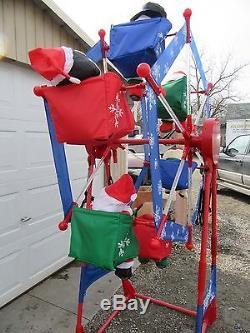 Kmart Simply Christmas 7' Ferris Wheel Lights Movement Characters Rotates Rare
